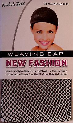 Perücke-Caps Unterziehhaube Haarnetz Perückekappe Schwarz 3er-pack