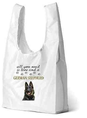 Alsatian German Shepherd Dog Printed Design Eco-Friendly Foldable Shopping Bag-2