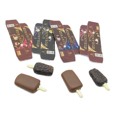 4Pcs 1:12 Dollhouse Miniature Food Chocolate Popsicles Doll Kitchen Accessor Y3
