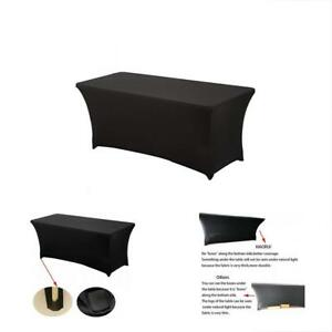 225 & Details about Tablecloth Spandex Stretch Table Cover Cloth Fitted Machine Washable Party 4 Ft