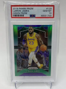 2019-Panini-Green-Prizm-Lebron-James-129-PSA-10-Gem-Mint-Lakers-Refractor