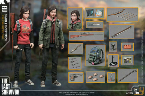 CCTOYS 1//6 HE LAST SURVIVOR JOE//ELLI Head Sculpt Clothes Set Fit 12/'/' Body