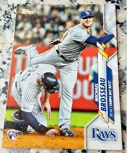 MIKE-BROSSEAU-2020-Topps-ROOKIE-CARD-RC-Logo-Tampa-Bay-Rays-HR-Power-ALDS-Hero