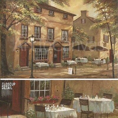 """36/""""x24/"""" COLLEEN/'S PUB by RUANE MANNIN LARGE PUB BAR STREET OUTDOOR TABLES CANVAS"""