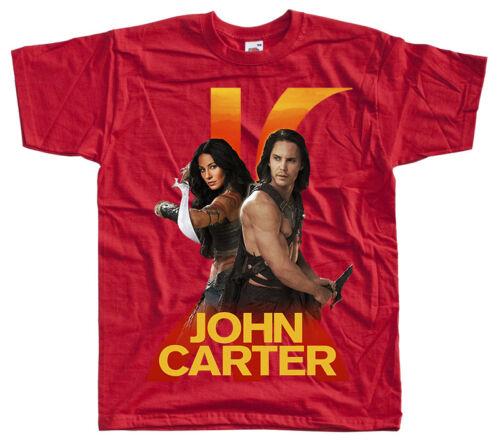 movie poster t shirt rouge kaki blanc toutes tailles S à 5XL John Carter V4