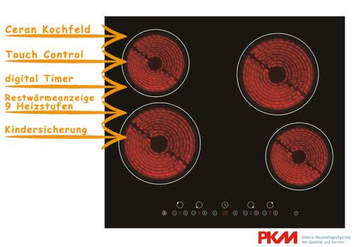 PKM Ceran Glaskeramik Kochfeld Timer Touch Control Rahmenlos KF4