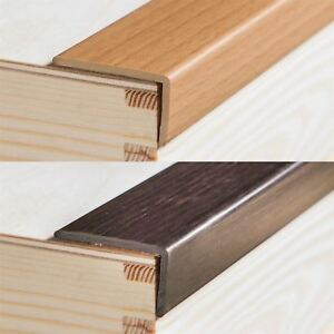 Upvc Wood Effect Stair Edge Nosing Trim Pvc Self Adhesive