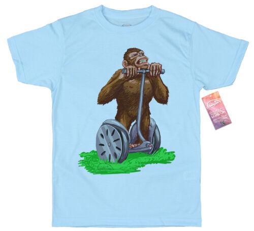 Chimpanzee Chimp on Segway T shirt Artwork Danny Baker
