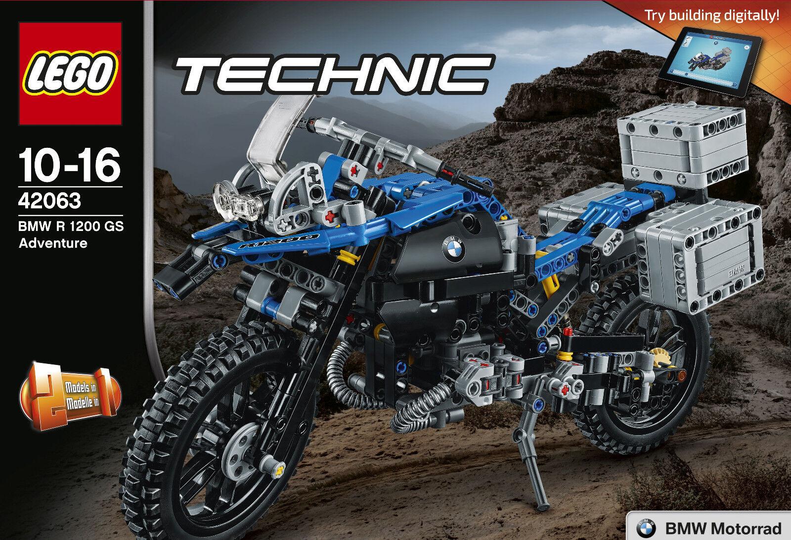 LEGO® TECHNIC 42063 - BMW R 1200 GS ADVENTURE, MOTORRAD, NEU/OVP