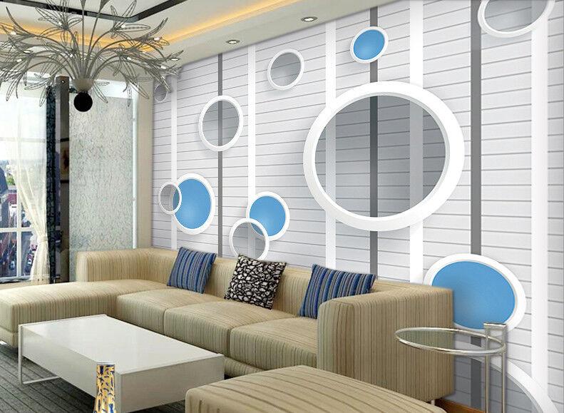 3D Striped Circles 7 Wall Paper Murals Wall Print Wall Wallpaper Mural AU Kyra