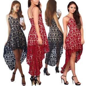 quality design 3f157 43453 Dettagli su Vestito elegante da sera donna abito pizzo cerimonia sexy lungo  cocktail DS61443