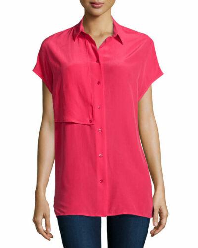 Equipment Femme Jaime cap sleeve silk blouse short