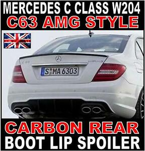Mercedes-C-Class-W204-Saloon-AMG-Style-Carbon-Rear-Boot-Spoiler-C63-AMG-UK-Stock