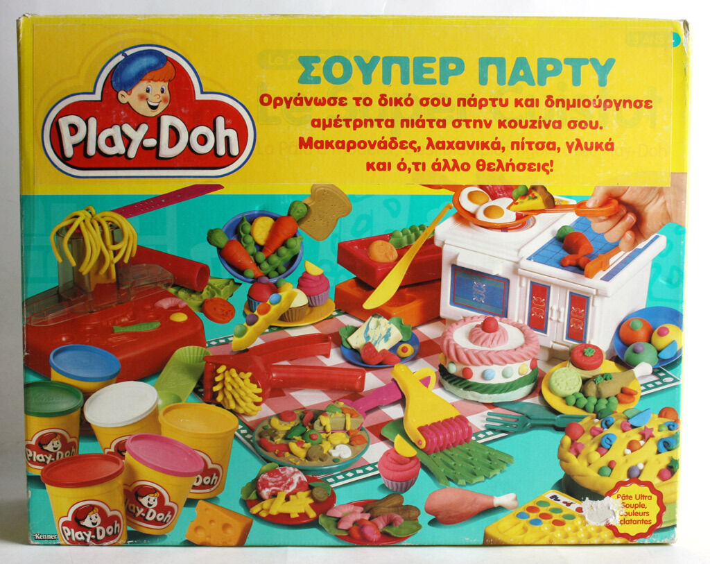 VERY RARE VINTAGE 1992 PLAY DOH SUPERFEAST CHEF PARTY MAKE A MEAL TONKA NEW MIB