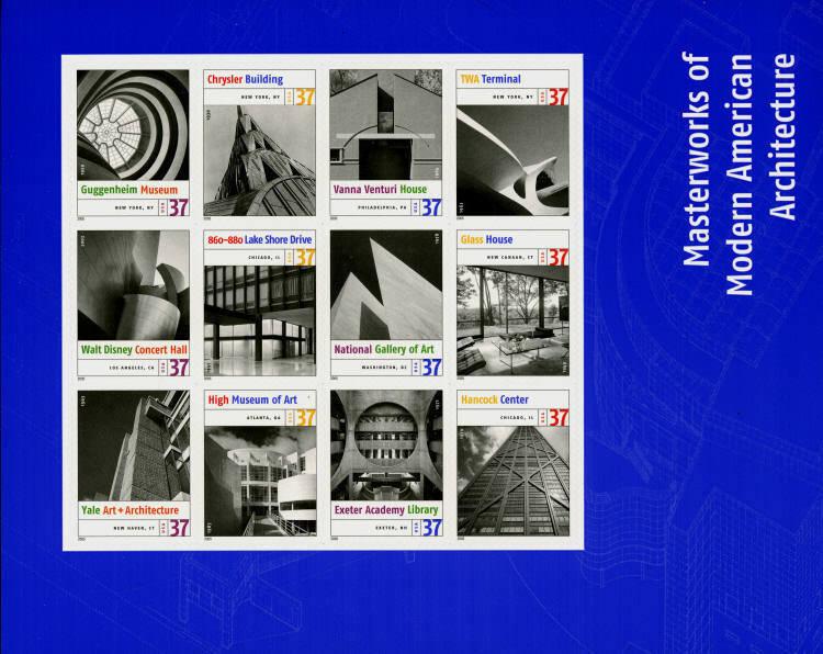 2005 37c Modern American Architecture, Sheet of 12 Scot
