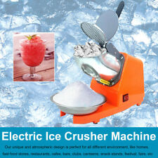 Electric Ice Crusher Shaver Machine Snow Cone Maker143lbshr 300w For Bar Orange