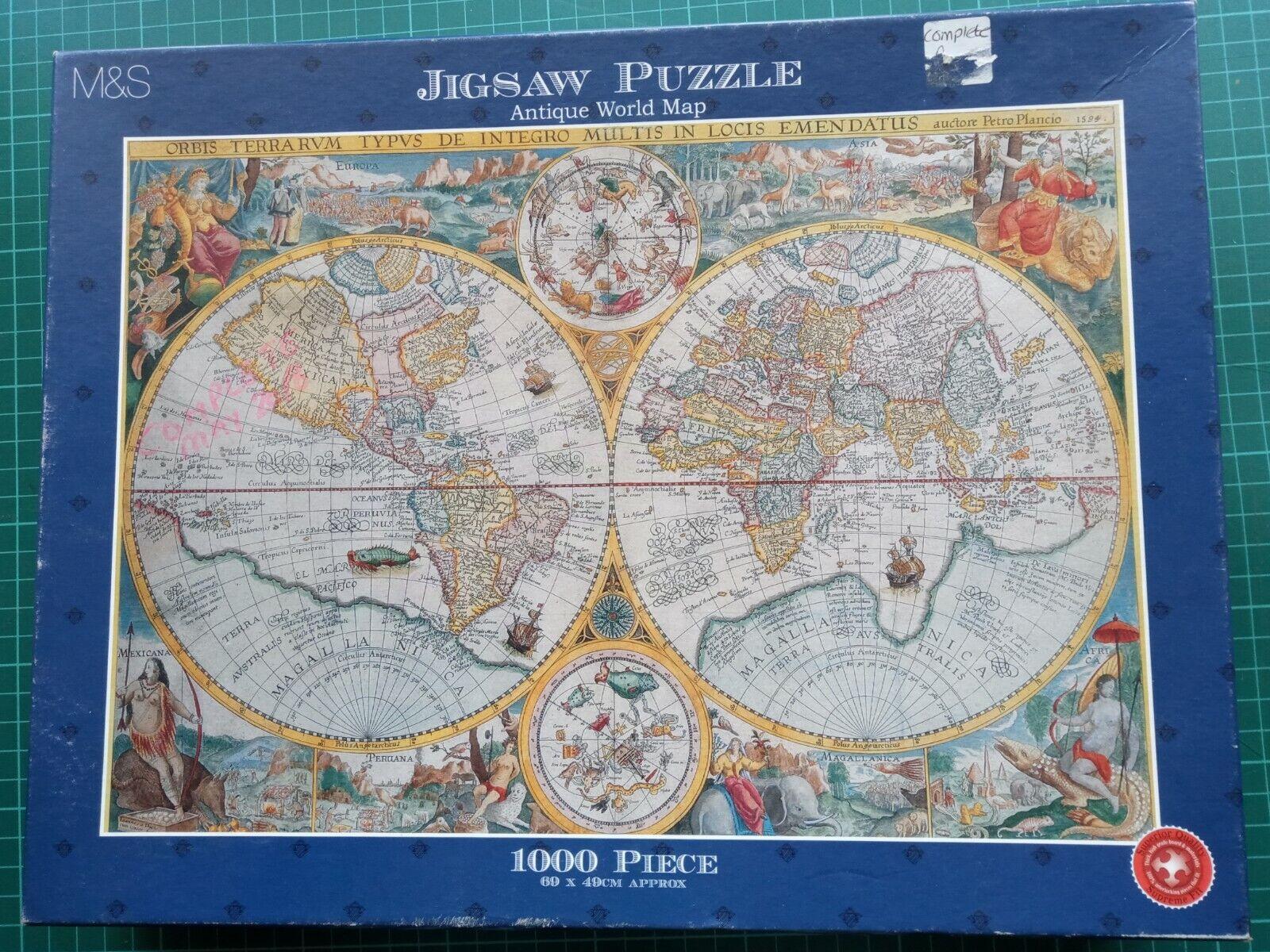 Old World Map 1, 000 Piece Jigsaw