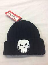 Marvel Beanie Cap Punisher Logo Black Hat