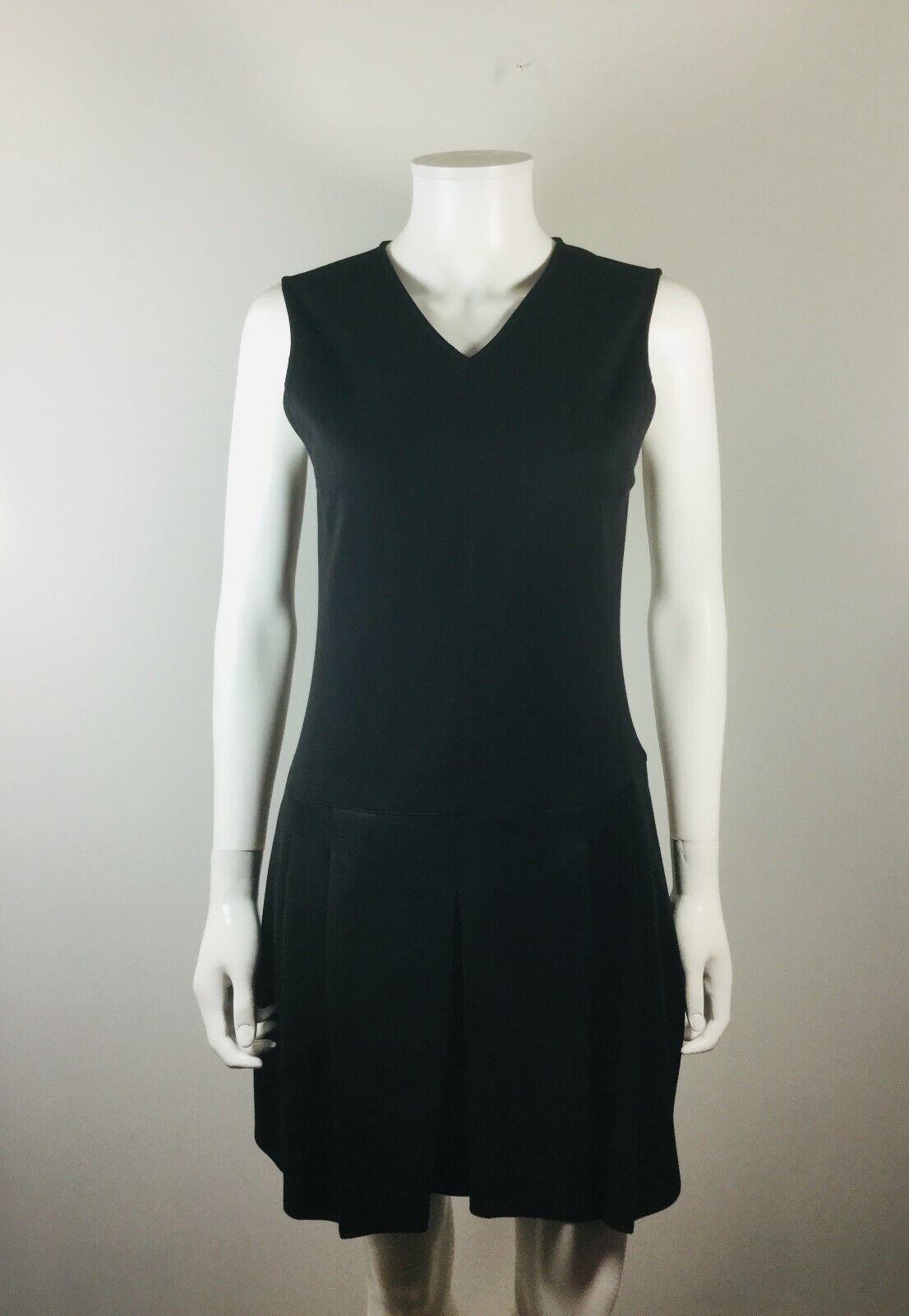 VINCE schwarz Größe 4 Sleeveless Heavy Knit V Neck Dress