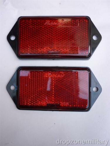 Pair Rear Reflector Red fit Land Rover Series III 90//110 Defender XFF100070