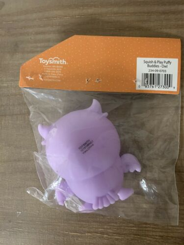 Squish Play Puffy Buddies Purple Owl Squishy Toysmith Toy Gift What A Hoot!