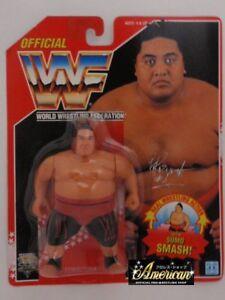WWF-WWE-Hasbro-Wrestling-Figure-1994-Series-8-Yokozuna-Red-Card-Very-Rare