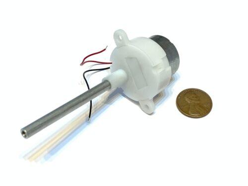 gear motor axis slow 12V 16 to 300 reduction box High Torque long shaft B28