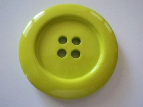 2pcs HUGE LARGE CLOWN ITALIAN SOLID BUTTONS 4 HOLE 50mm-B697 CRAFT SEWING COAT