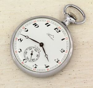 Molnija-3602-open-face-mechanical-pocket-watch-with-Perseo-dial