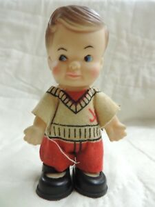 Rare Vintage Pee Wee Uneeda Doll Tiny Hockey Player Cute ...
