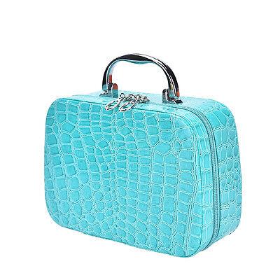 Fashion Makeup Storage Bag Case Jewelry Box Leather Travel Cosmetic Organizer AB