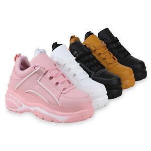Damen Plateau Sneaker Metallic Turnschuhe Chunky Freizeitschuhe 833557 Schuhe