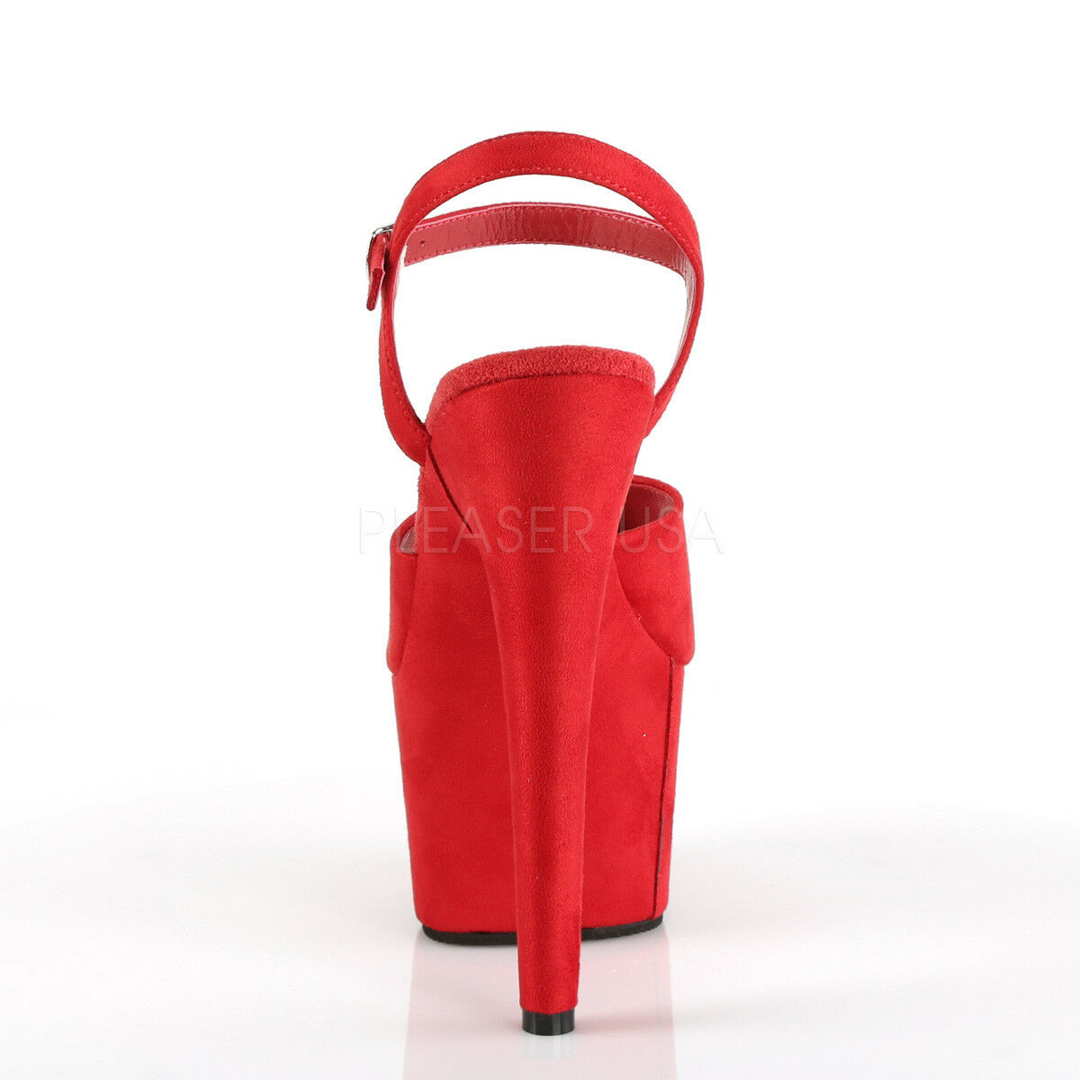 PLEASER ADORE-709F Sexy 7  Heel  Platform Platform Platform Red Faux Suede Dancer Stripper shoes e65144