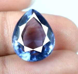 Pear Violet Sapphire 7.60 Ct Gemstone 100% Natural Certified A38131 Weekend Sale