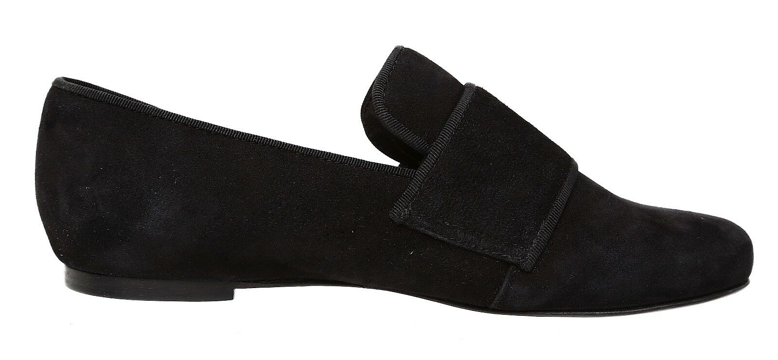 See See See By Chloe Top Strap Suede Loafer Black Women Sz 36 EUR 2868 0e9235