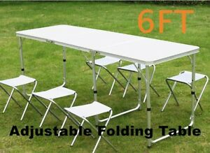 Sensational Details About 6Ft Folding Camping Table Heavy Duty Portable Catering Picnic Bbq Dining Party Spiritservingveterans Wood Chair Design Ideas Spiritservingveteransorg
