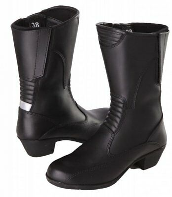 modeka Botas de moto botas para mujer kibara Lady Negro