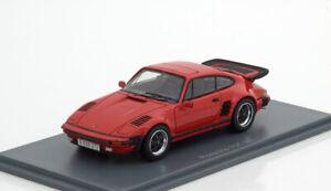 Porsche 930 Turbo Se Flatnose 1987 Rouge Neo 43272 1/43 Résines Rouge Pourriture