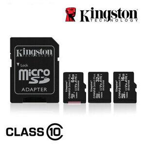 Kingston Micro SD Memory Card 16GB 32GB 64GB 128GB TF Class 10 for Smartphones
