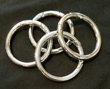 "MICHE ~ 16  Accessories Silver Carabiner Push Open Rings 1.5"""