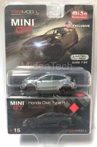 Mini-GT-1-64-2017-Honda-Civic-Type-R-FK8-Crystal-Black-MGT00015-Raw-Chase-Car