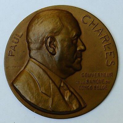 Médaille Medal Congo Dupagne 1951 Banque Bank Paul Charles Colonial Van Het Grootste Gemak