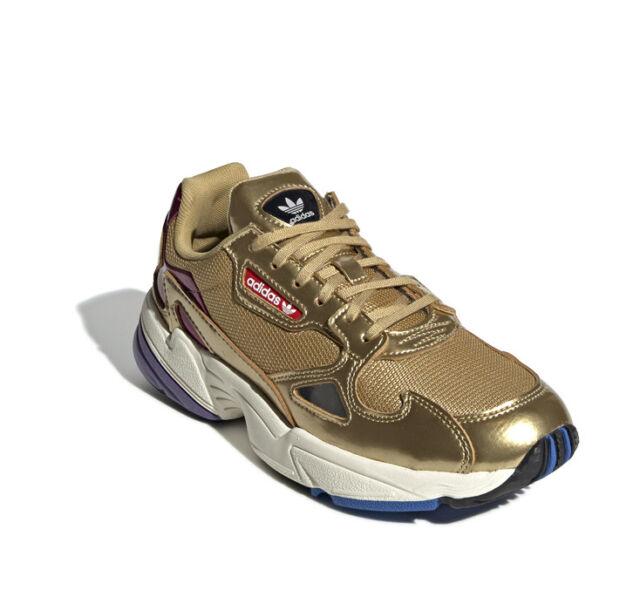 adidas Originals Falcon W Gold Off White Purple Women Lifestyle Shoes CG6247