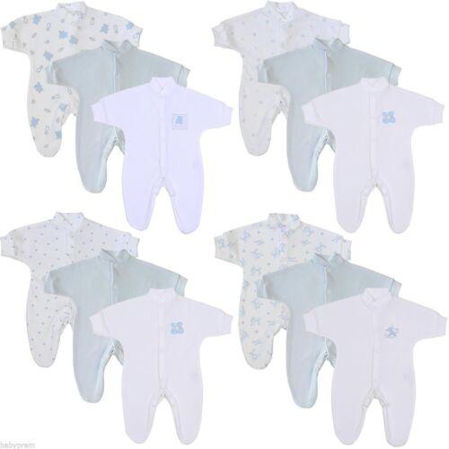 7lbs BabyPrem Premature Baby Clothes 3 Tiny Sleepsuits Babygrows 1lb