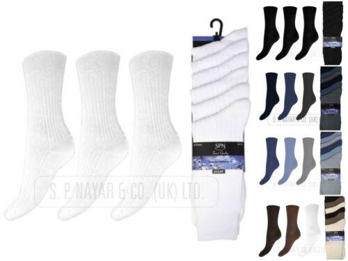 NUOVI Pantaloncini Uomo di marca SPN a costine 100/% Cotone Pacco 6 paia UK 6-11 Calzini tutti i giorni