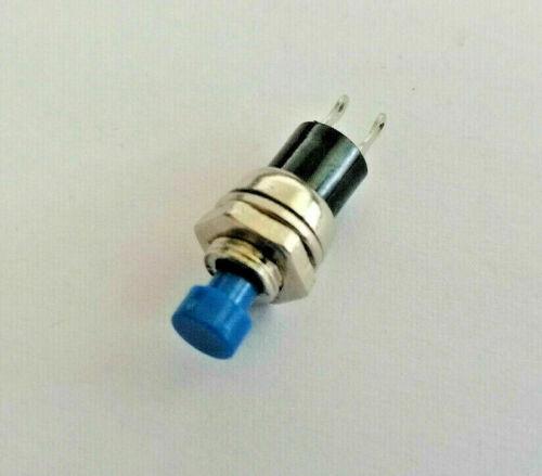 Gewinde M7 3 A Knopf 6 mm Drucktaster Taster Blau max 12 Volt