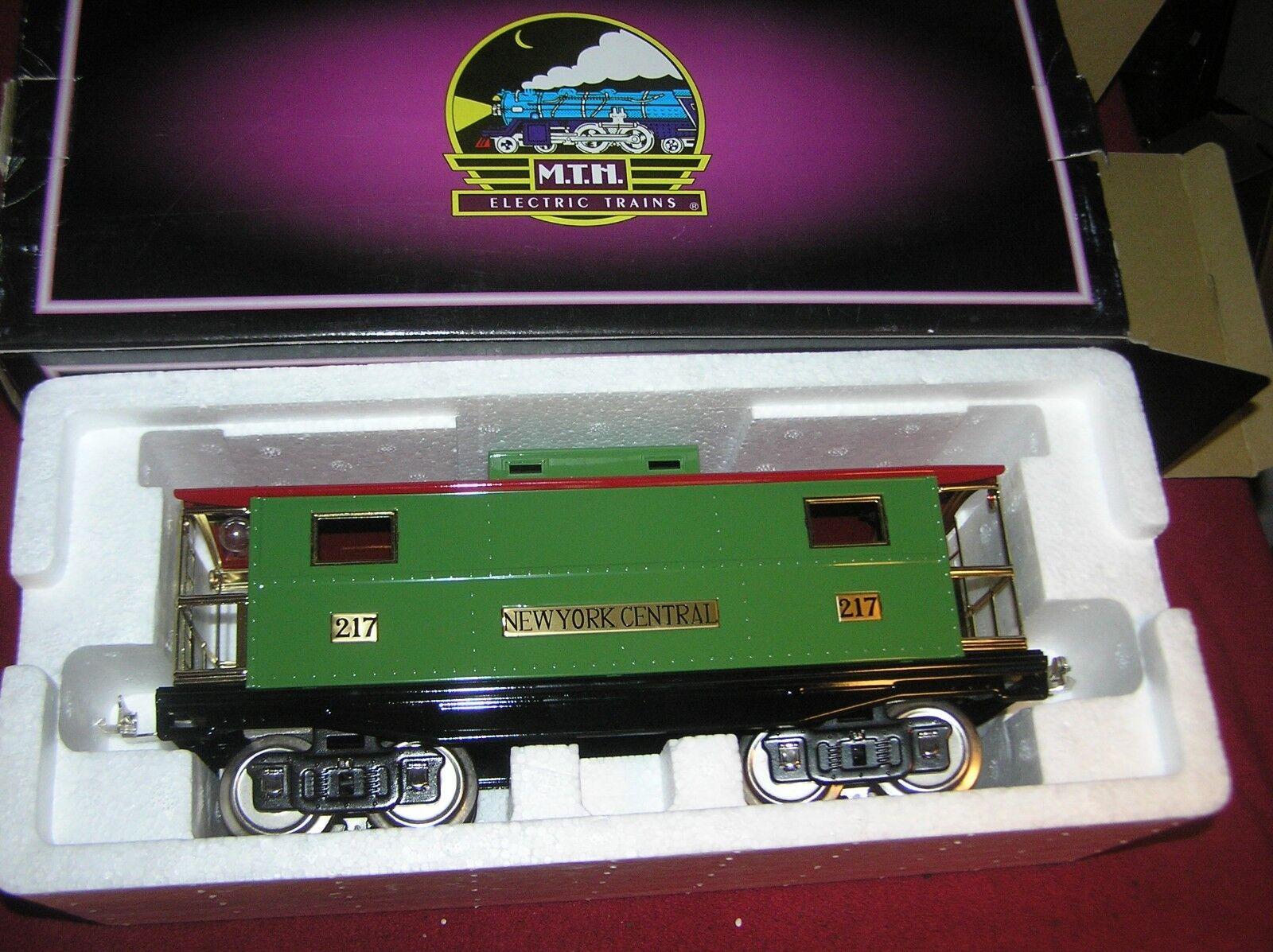 MTH Escala estándar  217, furgón de cola, Nueva York Central, Pea verde y Roja, 10-1055, ob