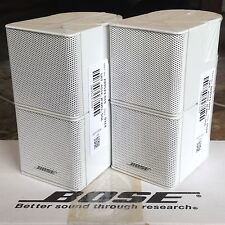 2 Bose Jewel Double Cube Premium Speaker In Absolutely MINT Condition. White
