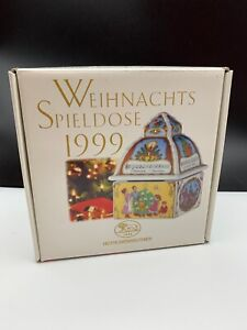 Hutschenreuther-Christmas-Music-Box-1999-4-7-8in-1-Choice-Top-Condition