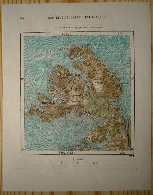 1879 Perron map: Westfjords, Iceland (#203)
